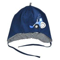 Granatowa czapka dziecięca Scorpio Spychacz