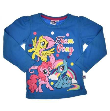 Bluzka dla dzieci z długim rękawem My Little Pony niebieska