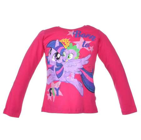 Bluzka dziecięca z długim rękawem z postaciami z bajki My Little Pony
