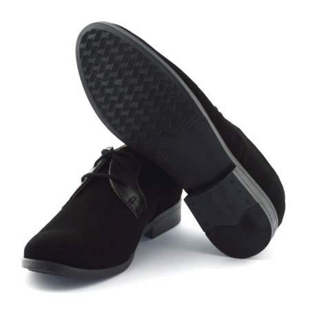 Czarne buty komunijne dla dzieci Kornecki 06120