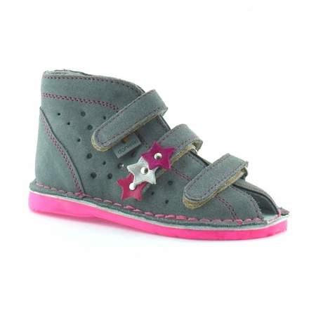 Dziecięce buty profilaktyczne Danielki TA125/135 Szary Fluof