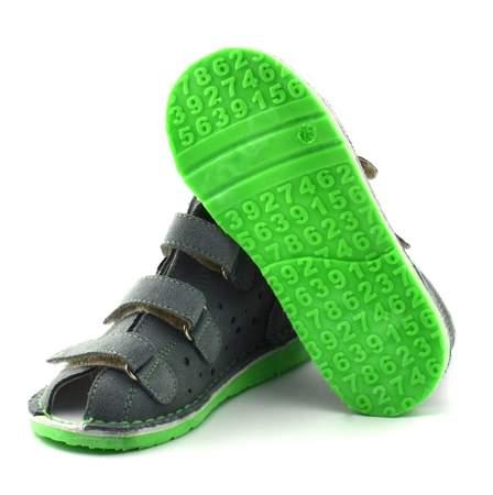 Dziecięce buty profilaktyczne Danielki TX105/115 Szary Fluo z